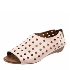 Bayanlar suni deri Düz topuk Flats Ile Oymak ayakkabı