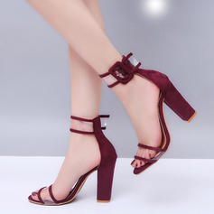 Kvinnor Tyg Stilettklack Sandaler Pumps Klackar med Spänne skor
