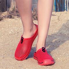 De mujer Malla Tacón plano Pantuflas con Agujereado zapatos