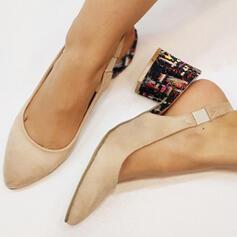Pentru Femei PU Toc Stiletto Încălţăminte cu Toc Înalt Închis la vârf cu Bandă Elastică pantofi