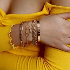 Uroczy Link & Chain Stop Zestawy biżuterii Bransoletki 6 szt