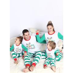 Venado Raya Dibujos animados Familia a juego Pijamas De Navidad Pijama