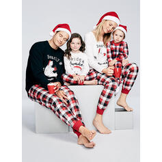 Bear Print Matchande familj Jul Pyjamas