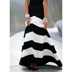 Color Block Sleeveless A-line Skater Party Maxi Dresses