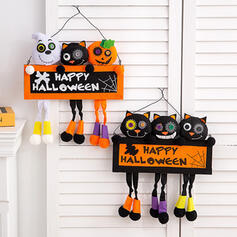 minunată Înspăimântător clasic Halloween Pisica neagra cauciuc Arta de perete