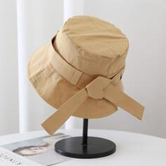 Kvinder Classic/Enkle/Charmen Bomuld med Kvaster Bucket Hat