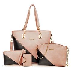 Elegante/Atractivo/Color de empalme Bolsos cruzados/Bolso de Hombro/Conjuntos de bolsa