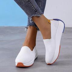 Kvinnor Flying Weave Andra Platta Skor / Fritidsskor med Andra Skarvfärg skor