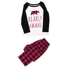 Bear Brev Matchande familj Jul Pyjamas