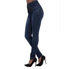 Kieszenie Marszczona Długo Elegancki Seksowny Dżinsy