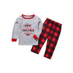 Deer Pläd Print Matchande familj Jul Pyjamas