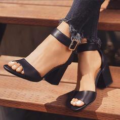 Γυναίκες PU Χοντρό φτέρνα Σανδάλια Με Πόρπη παπούτσια