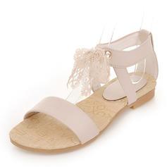 Pentru Femei Imitaţie de Piele Fară Toc Sandale Balerini Puţin decupat în faţă cu Nod pantofi