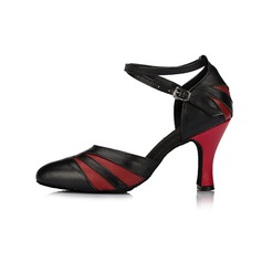 Donna Sala da ballo Tacchi Stiletto Vera pelle con Listino alla caviglia stile moderno