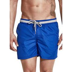 A bărbaţilor Culoare Solidă Traverse înotați Costum de Baie