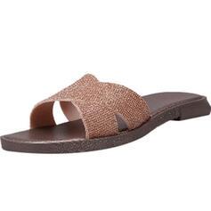 Dámské Plasty Placatý podpatek Sandály Pantofle S Napodobenina drahokamu obuv