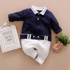 bébé Colourblock Boutons Imprimé Coton Une pièce