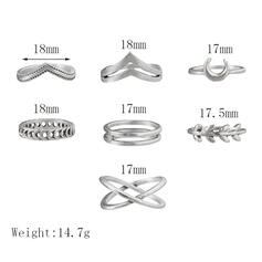 Μοναδικός Πανέμορφος Κομψός Κράμα Σετ Κοσμήματα Δαχτυλίδια (Σετ από 7)