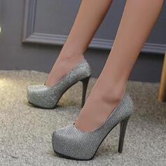 De mujer PU Tacón stilettos Salón con Lentejuelas Color sólido zapatos
