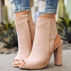 De mujer Ante Tacón ancho Salón con Cremallera zapatos