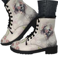 Naisten PU Matala heel Kengät Martin saappaat jossa Kirjailtu kengät