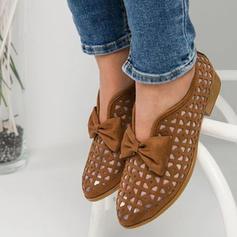 Mulheres PU Sem salto Sem salto com Bowknot Oca-out sapatos