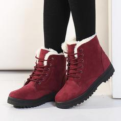 De mujer Ante Tacón plano Planos Botas con Cordones zapatos