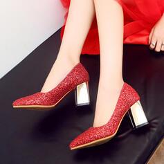 Γυναίκες Αφρώδης λάμψη Χοντρό φτέρνα Γοβάκια Κλειστά παπούτσια παπούτσια