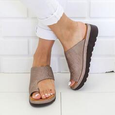 Kvinner PU Flat Hæl Tøfler med Annet sko