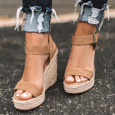 De mujer PU Tipo de tacón Sandalias Salón Encaje con Hebilla zapatos