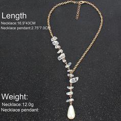 Unique Shining Alloy With Imitation Pearl Imitation Stones Necklaces