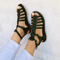 Pentru Femei PU Fară Toc Sandale Balerini Puţin decupat în faţă cu Cataramă pantofi