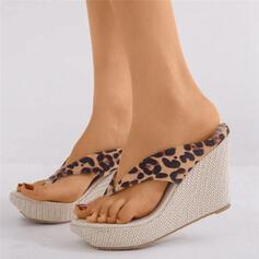 De mujer Ante Tipo de tacón Cuñas Chancletas Pantuflas zapatos
