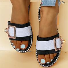 Kvinder PVC Flad Hæl sandaler Kigge Tå Tøfler med Spænde sko