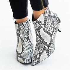 Γυναίκες Καστόρι Μεσαία παπούτσια τακουνιών Γοβάκια Με Αποτύπωμα ζώου παπούτσια