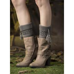 Jednobarevná Komfortní/Dámské/Návleky na nohy/Ponožky na manžetové knoflíky Ponožky