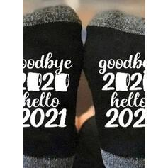 Dopis/Tisk Prodyšný/Posádkové ponožky/Non Slip/Unisex Ponožky