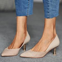 婦人向け PU コーンヒール ポンプ かかと とともに スプライスカラー 靴