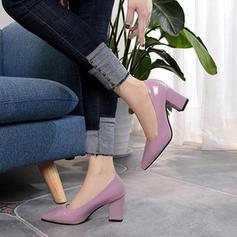 Kvinnor PU Tjockt Häl Pumps med Andra skor