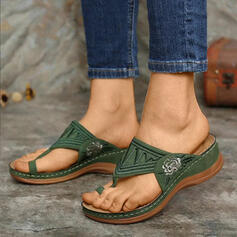De mujer PU Tipo de tacón Sandalias Pantuflas zapatos