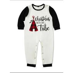 Kostkovaný Písmeno Rodinné odpovídající Vánoční pyžama