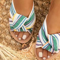De mujer Ante Tacón plano Sandalias Encaje con Hebilla zapatos