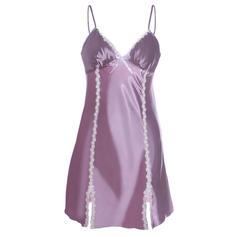 Poliester Dantelă Simplu alunecare rochie