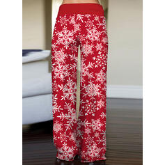 Stampa Coulisse Natale Casuale Vintage Pantaloni