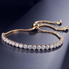 Shining Zircon Copper With Zircon Women's Bracelets (Sold in a single piece)