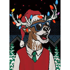 унисекс Полиэстер Распечатать северный олень Гадкий рождественский свитер