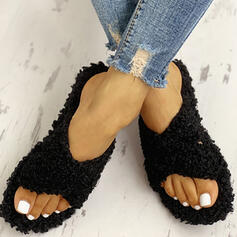 Γυναίκες Υφασμα Επίπεδη φτέρνα Παντούφλες Με Γούνα Οι υπολοιποι παπούτσια