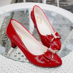 De mujer PU Tacón bajo Salón con Bowknot zapatos