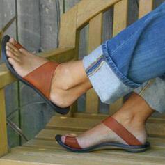 De mujer PU Tacón plano Sandalias Encaje Pantuflas zapatos