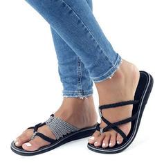 PU Flat Heel Sandals Flats Peep Toe Flip-Flops With Others shoes